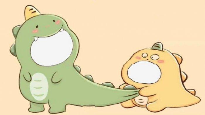 Link dan Cara Twibbon Dino Hijau dan Dino Kuning yang Viral di TikTok buat Couple Lucu-lucuan via Twibbonize Gratis