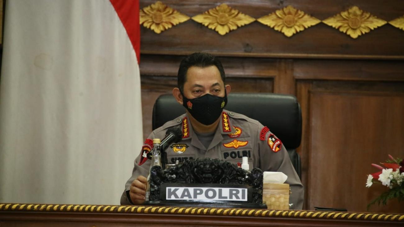 Rapat bersama Forkopimda Bali, Kapolri: Ada Sanksi Tegas bagi Petugas yang Lalai saat Penyekatan