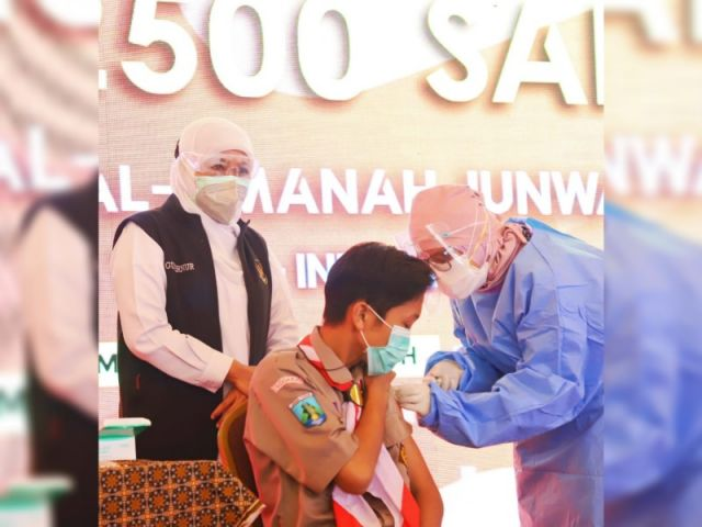 Peringatan HAN 2021, Gubernur Khofifah Ajak Lindungi Anak Jawa Timur dengan Gencarkan Vaksinasi Covid-19