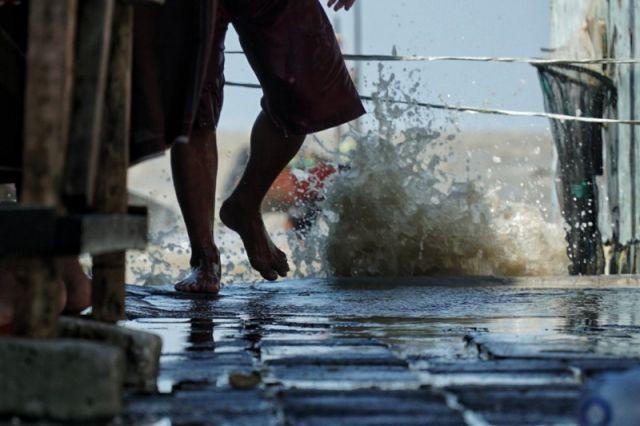 FOTO: Banjir Rob di Surabaya