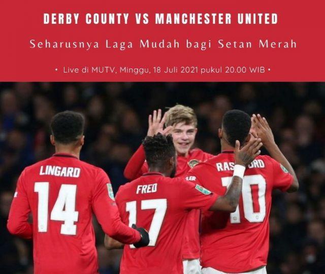 Prediksi dan Link Live Streaming Laga Uji Coba Derby County vs Manchester United: Laga Mudah bagi Setan Merah?