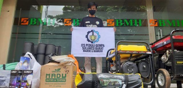 ITS Gandeng BMH Kirimkan Bantuan untuk Korban Gempa Sulbar