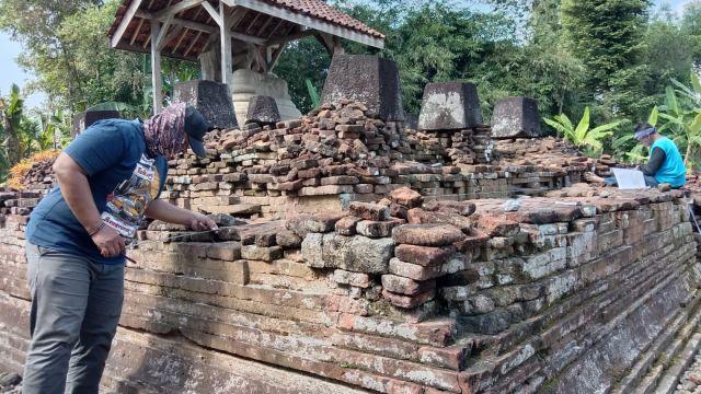 Bernilai Arsitektur Tinggi, BPCB Trowulan Kaji Pemugaran Candi Gayatri di Tulungagung