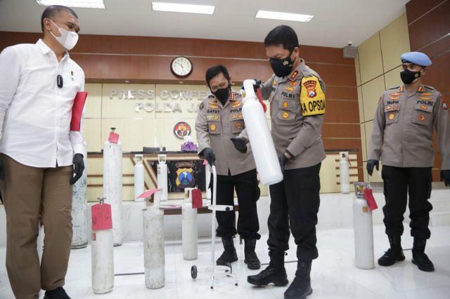 Jual Secara Online, Tiga Penjual Tabung Oksigen Diamankan Polda Jatim