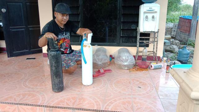 Selain Langka, Beredar pula Oksigen Palsu Diduga Udara dari Kompresor Tambal Ban di Tulungagung