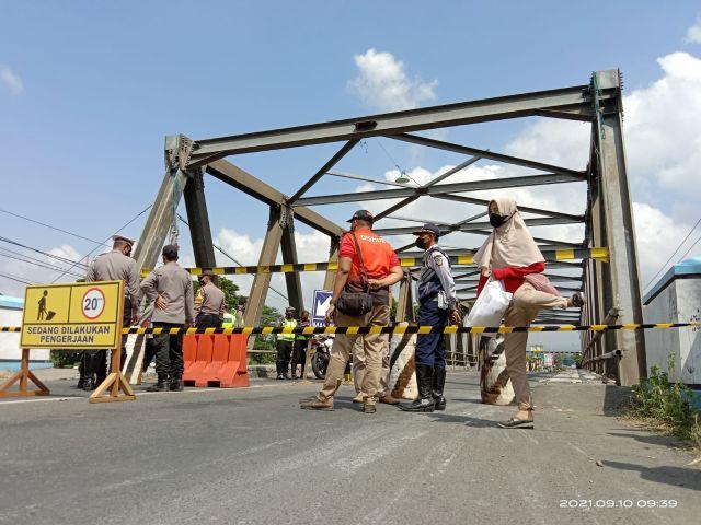 Berusia 31 Tahun, Jembatan Karangrejo Tulungagung Baru Diperbaiki