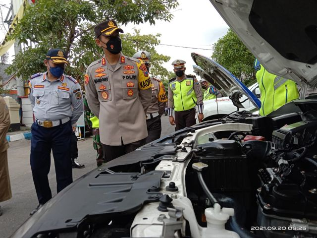 Apel Gelar Pasukan Operasi Patuh Semeru 2021 Polres Tulungagung