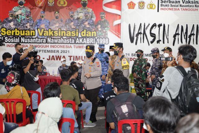 Sinergitas TNI-Polri dan Alumni AKABRI 98 Nawahasta Gelar Vaksinasi serta Baksos di Seluruh Nusantara