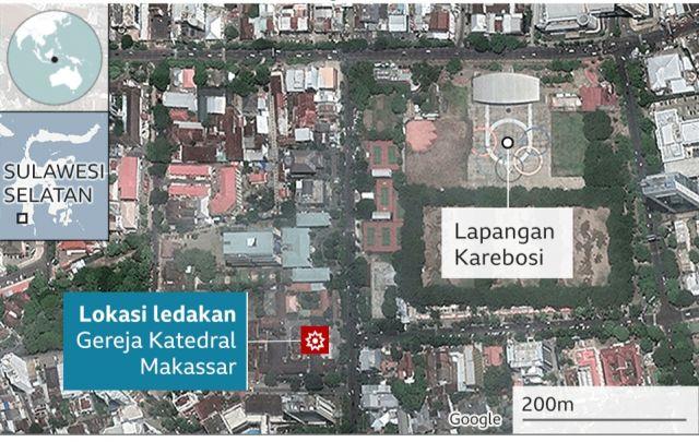 Korban Bom di Gereja Katedral Bertambah, 2 Tewas dan 20 Orang Terluka