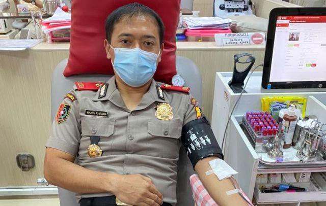 Wakapolres Jombang Isi Ramadan dengan Donor Darah