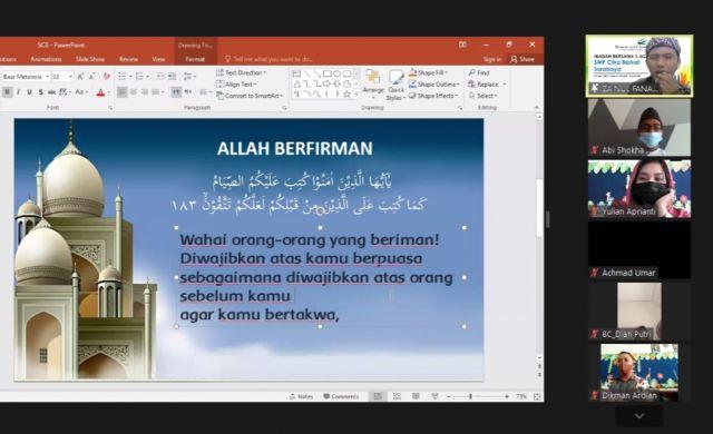 Toleransi saat Ramadan, SMP Citra Berkat Gelar Ibadah Bersama 5 Agama