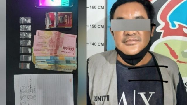 Pria Pengangguran di Wiyung Ini Isi Waktu Luang jadi Kurir Narkoba, Polisi Sita Rekapan dan 7 Poket Sabu-Sabu