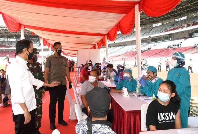 Presiden Jokowi Tantang Pangdam V/Brawijaya Akselarasi Dua Juta Vaksin COVID-19, Mayjen TNI Suharyanto: Siap!