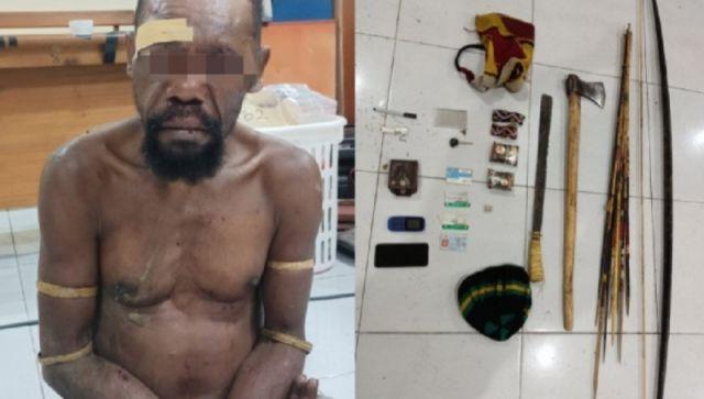 Polisi Bekuk Pelaku Utama Kerusuhan di Yahukimo Papua Sita Busur dan Kapak