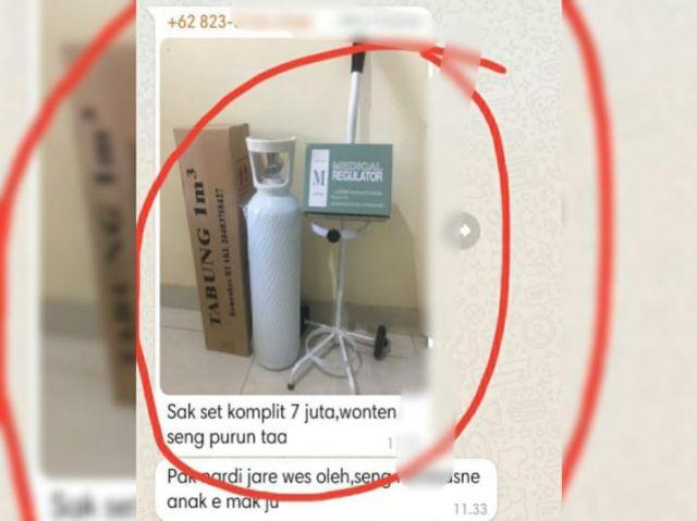 Edan! Satu Tabung Oksigen 1 m3 Lengkap Dijual seharga Rp7 Juta di Surabaya, padahal Aslinya cuma Segini