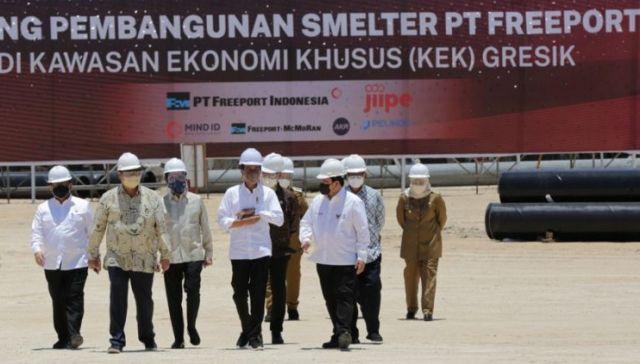 Smelter PTFI Gresik Diresmikan Presiden, Berpotensi Pancing Industri Lain Berinvestasi di Jatim