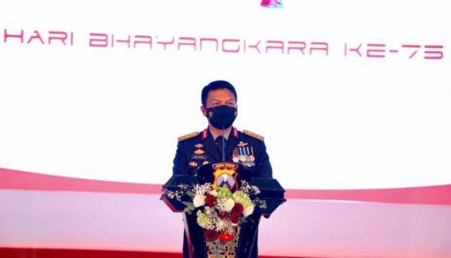 HUT Bhayangkara jelang Berlakunya PPKM Darurat, Kapolda Jatim: Jaga Diri, Jaga Keluarga, Jaga Negara!