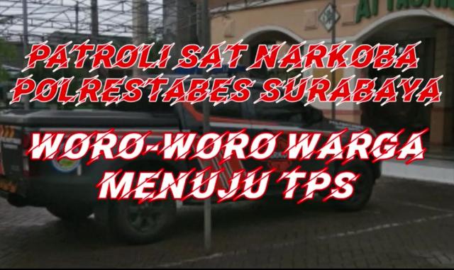 Video : Satresnarkoba Polretabes Surabaya Ajak Warga Ke TPS