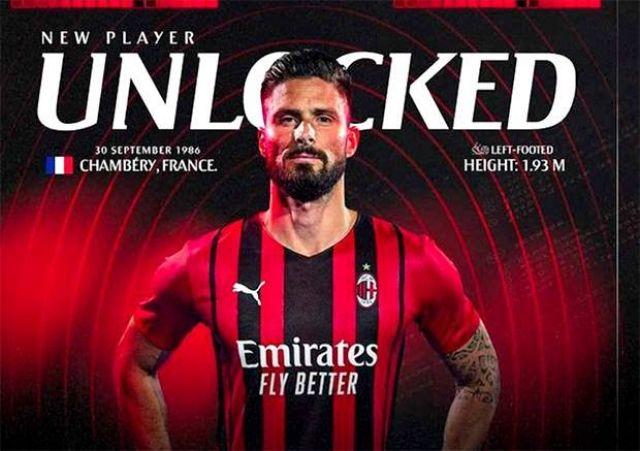 Pindah dari Chelsea ke AC Milan, Olivier Giroud bakal Mandul karena Jersey No 9 yang 'Terkutuk', Ini Bukti Daftar Korbannya