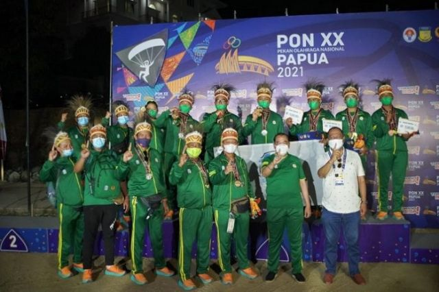 PON XX Papua: Jatim Sabet Gelar Juara Umum Paralayang
